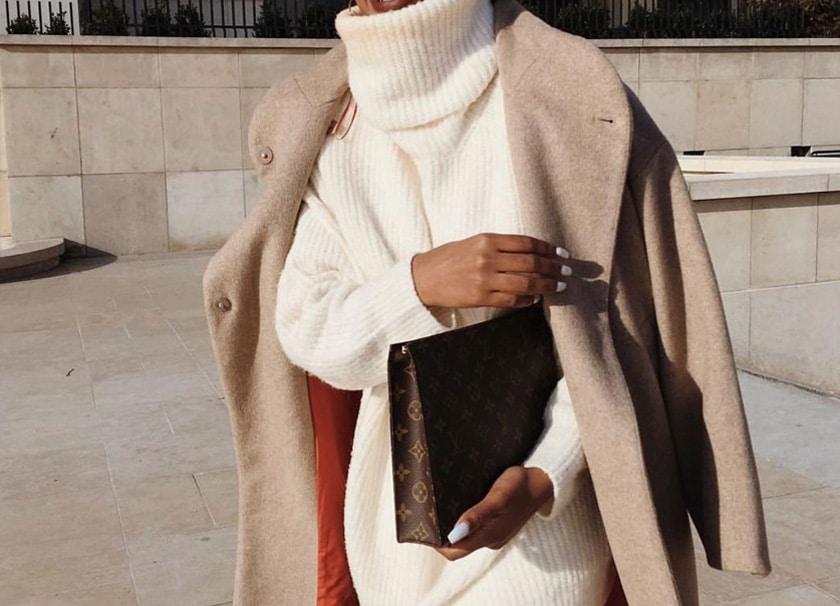 comment porter une robe blanche en hiver