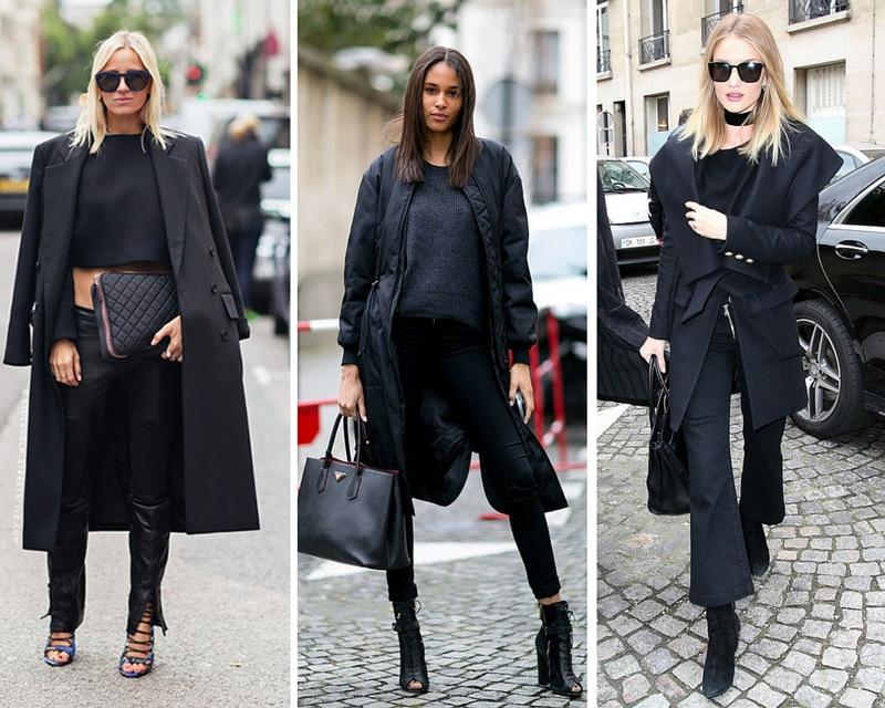 idées de tenues total noir
