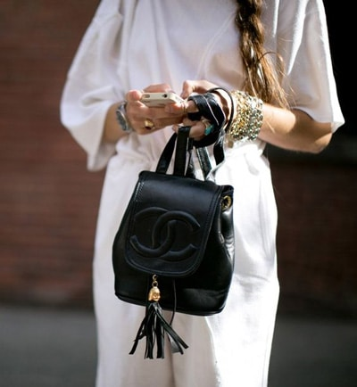 sac chanel look de rue