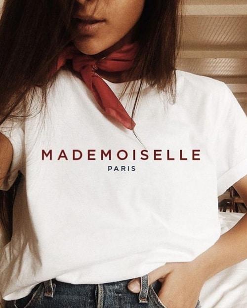 style parisien t shirt mademoiselle paris