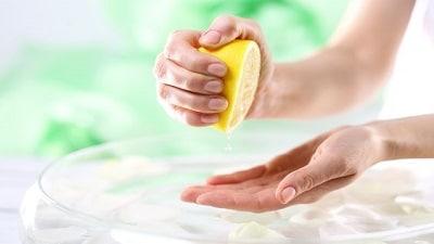 jus de citron ongles striés