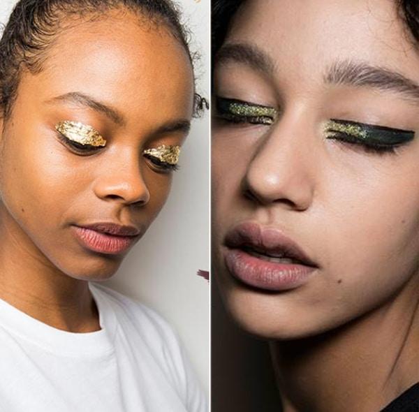 fard a paupiere paillettes tendance maquillage 2018 2019
