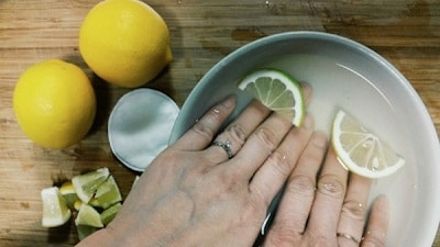 bain de citron ongles