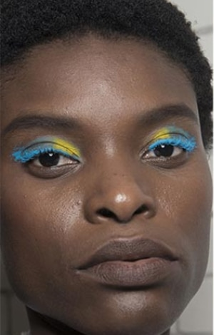 maquillage multicolore fendi tendance maquillage 2018 2019