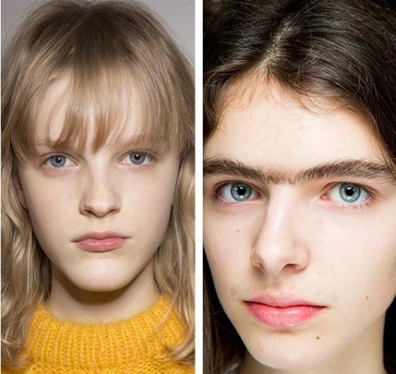 tendance du maquillage 2018 2019 le mono sourcil