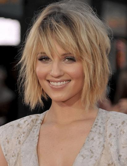 carre plongeant blond ondule