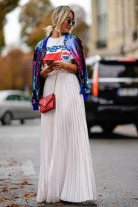 jupe-longue-blanche-plissee