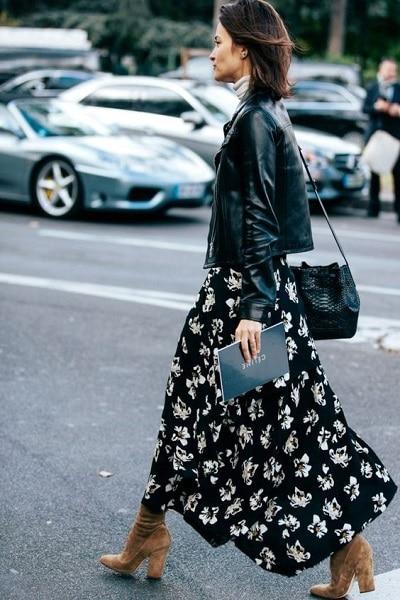 jupe longue look boheme