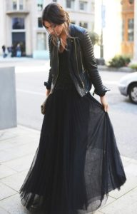 jupe longue noire perfecto