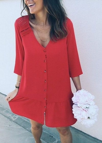robe-rouge-fluide