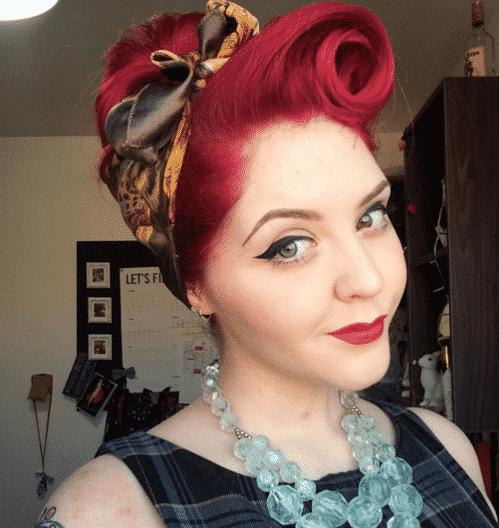 bandana cheveux pin up rockabilly