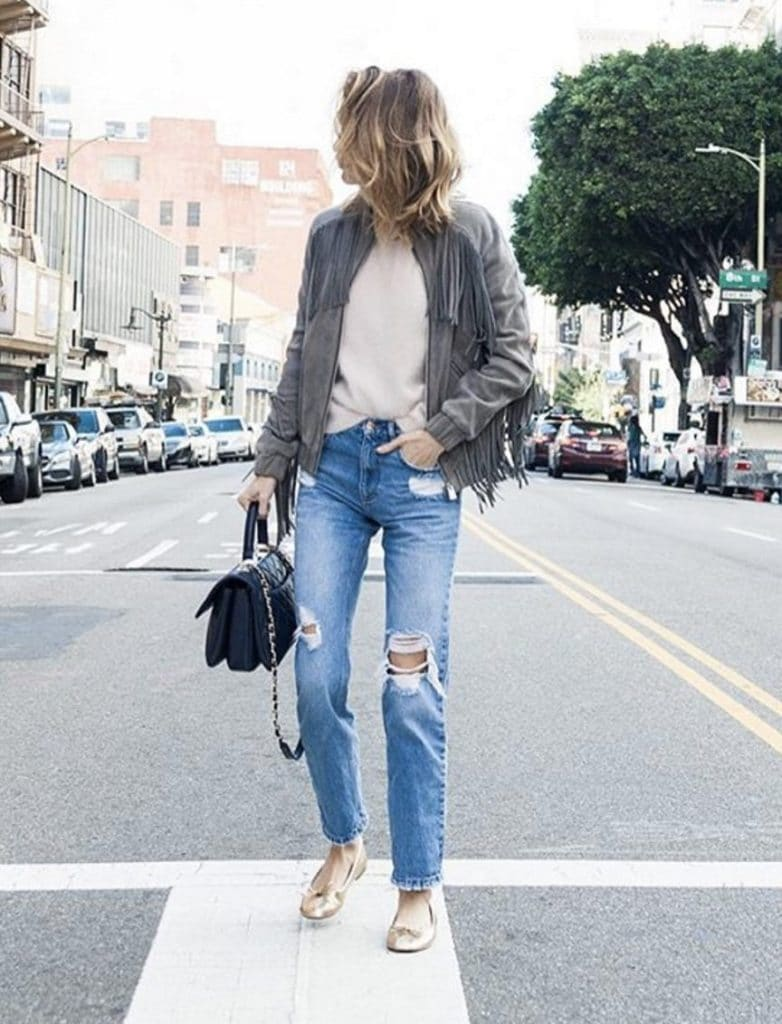 ballerine style casual chic
