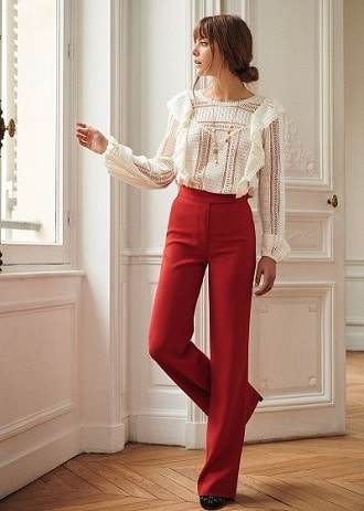 look-avec-un -pantalon-taille-haute