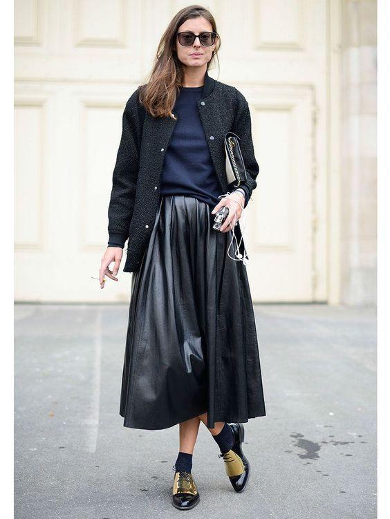 jupe-plissee-cuir-veste