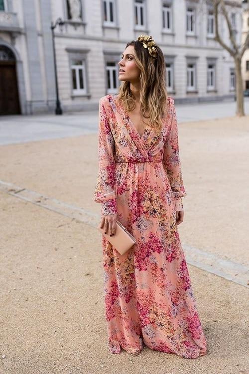 robe-fleurie-mariage-champêtre