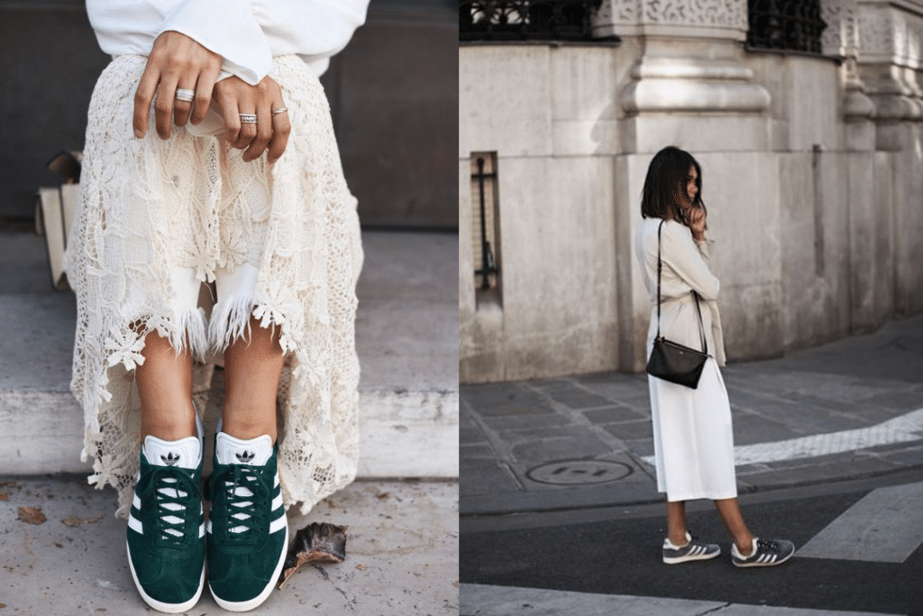 3 manières ultra chics de porter des Gazelles Adidas