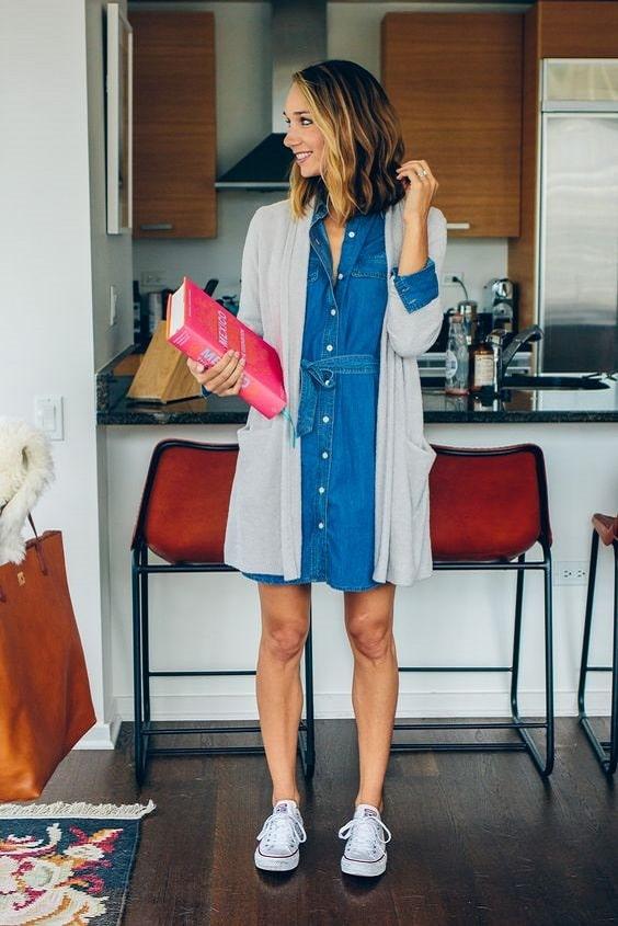 robe-chemise-denim