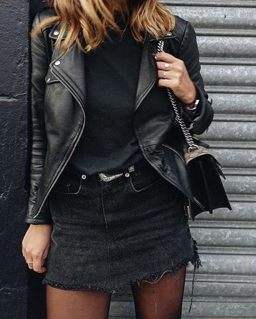 jupe-jean-noire