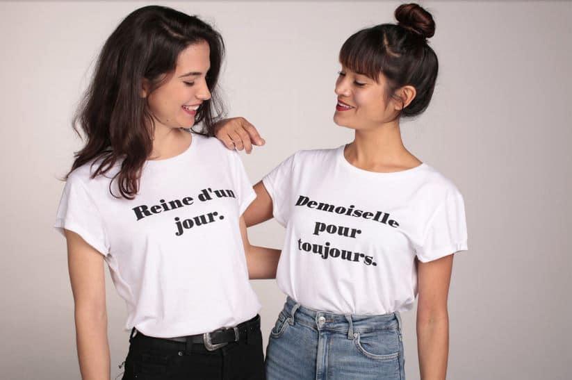 t shirt evjf message tendance