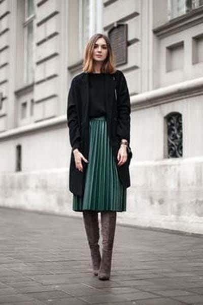 Bottes-jupe-plissée