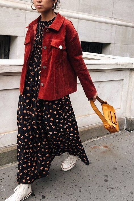 robe-fleurie-veste