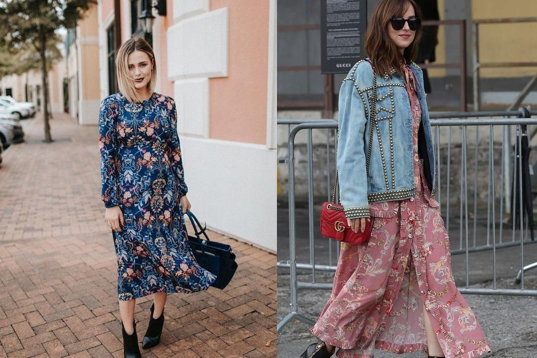 comment-porter-une-robe-fleurie-en-hiver