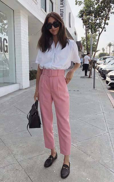 pantalon-carotte-rose