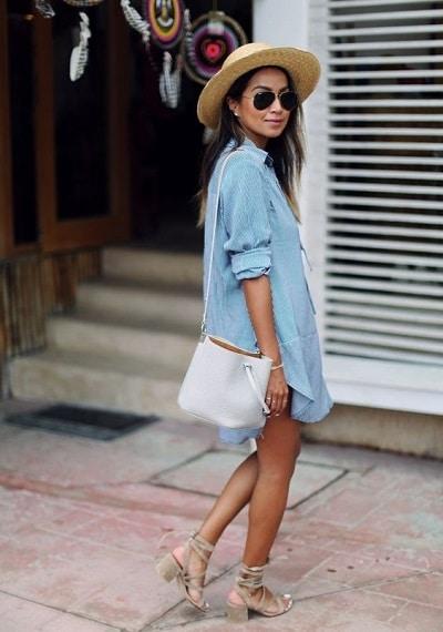 robe-denim-été