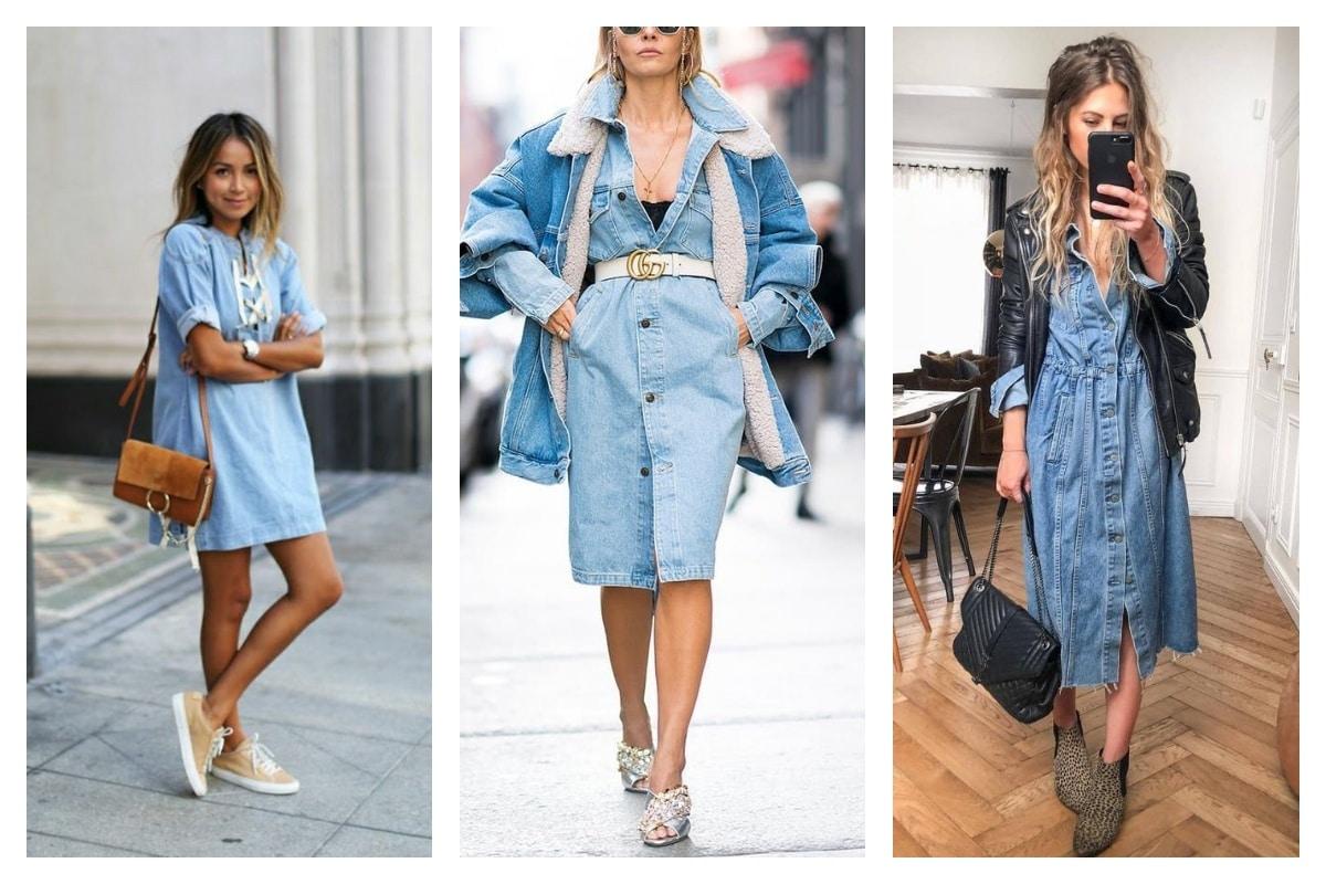 Comment-porter-une-robe-en-jean-avec-style