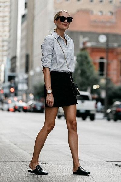 jupe-noire-courte