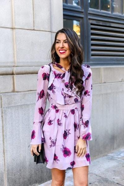 robe-violette-fleurs