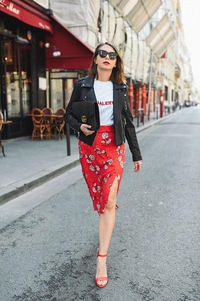 jupe-rouge-fleurs