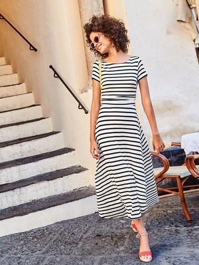 robe-marinière-longue-femme