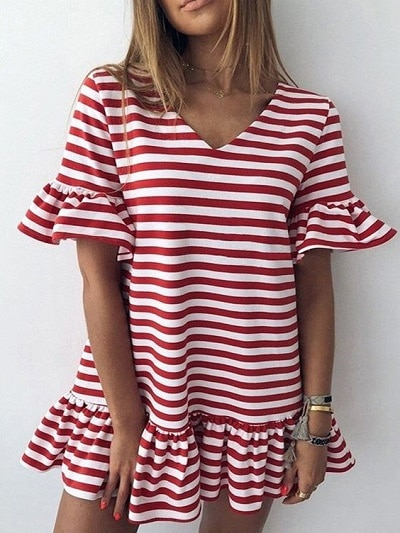 robe-marinière-rouge