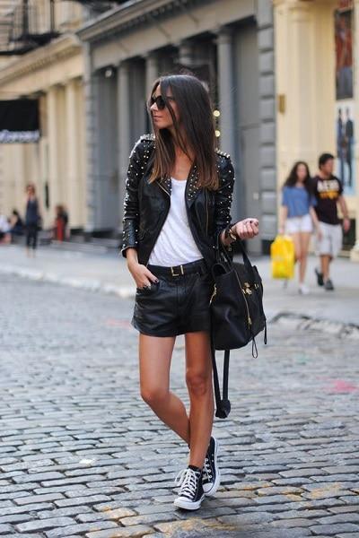 jupe-noire-cuir