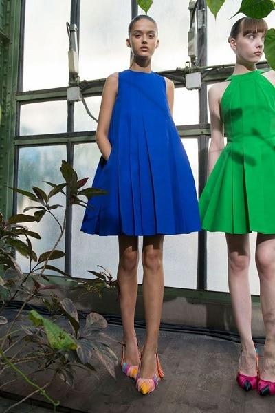 robe-trapèze-bleu