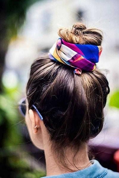foulard-cheveux-chignon