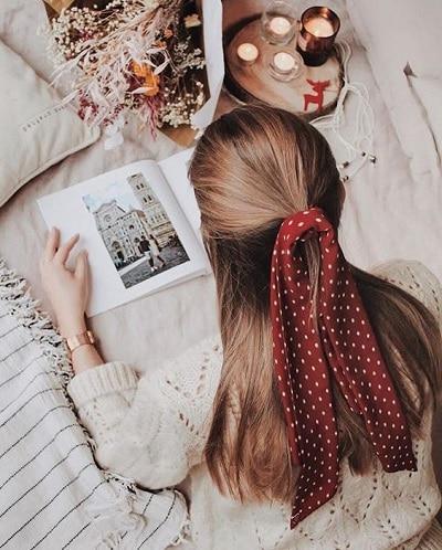 foulard-cheveux-pois