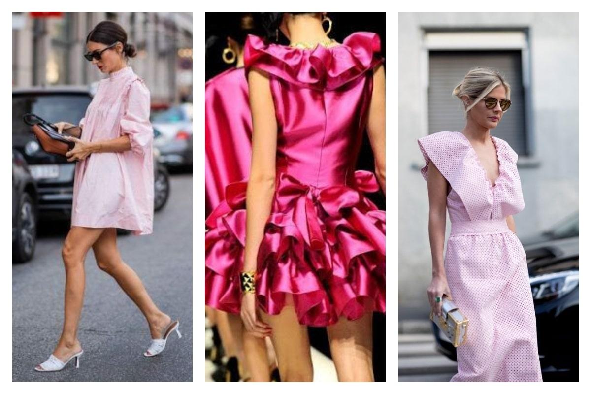 Comment-porter-une-robe-rose-avec-style