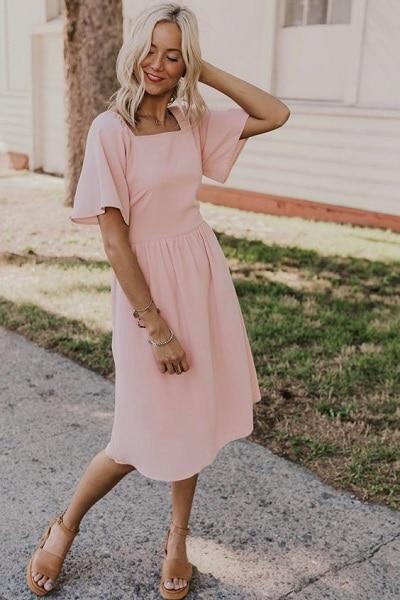 robe-rose-poudré