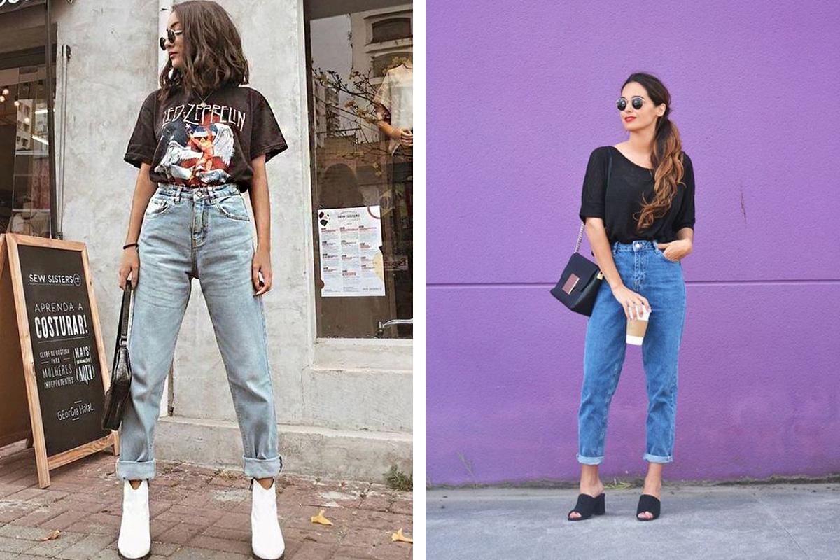 avec quoi porter jean mom