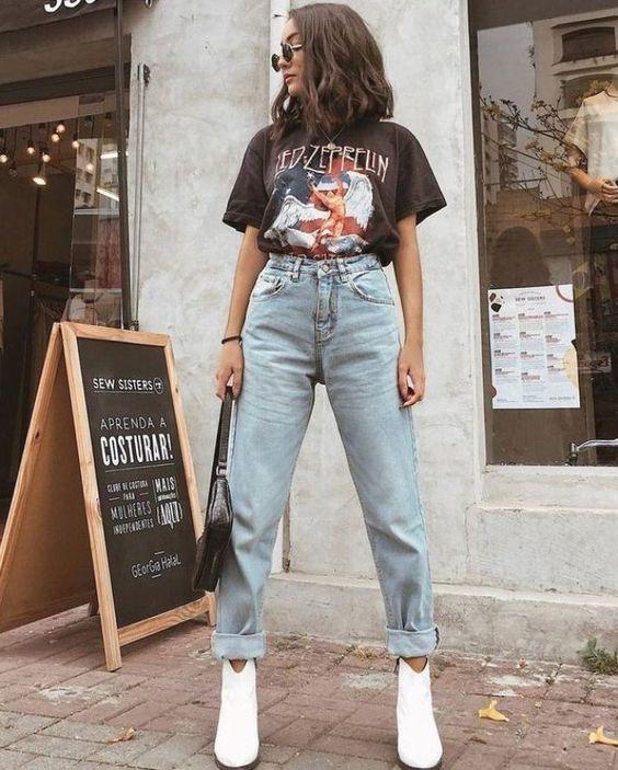 Avec quoi porter un jean mom?