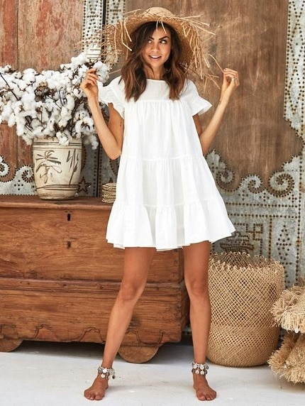 robe-blanche-babydoll