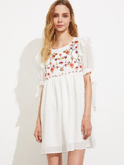 robe-blanche-volants