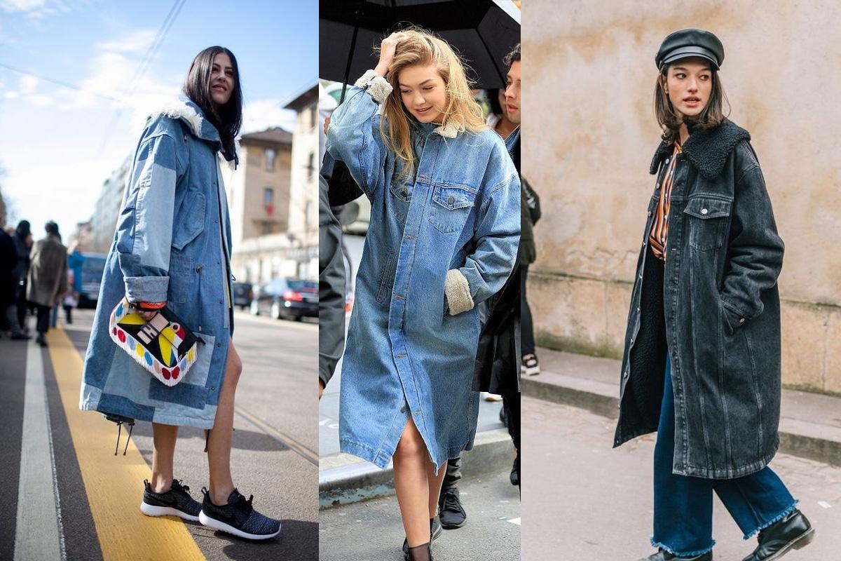 comment porter la veste longue en jean tendance