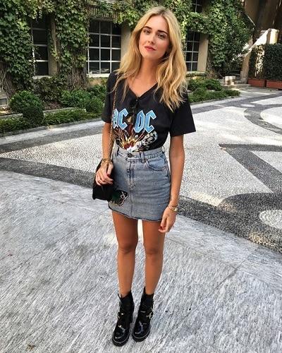 t-shirt-rock-jupe
