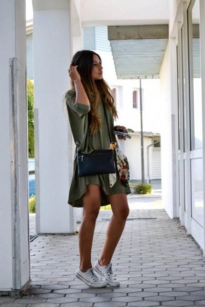 robe-chemise-kaki