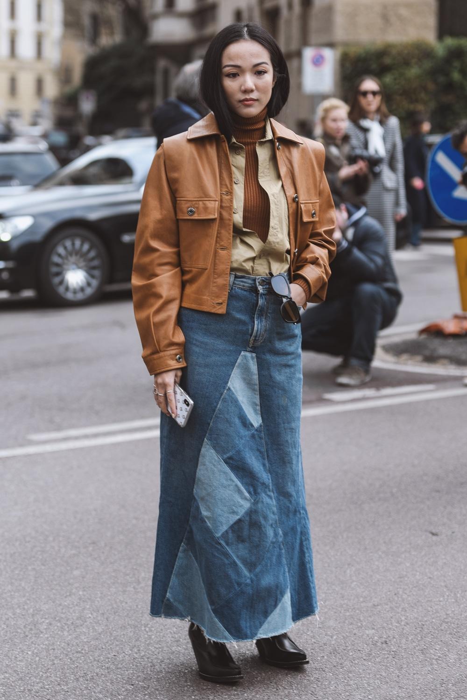 comment porter la jupe en jean