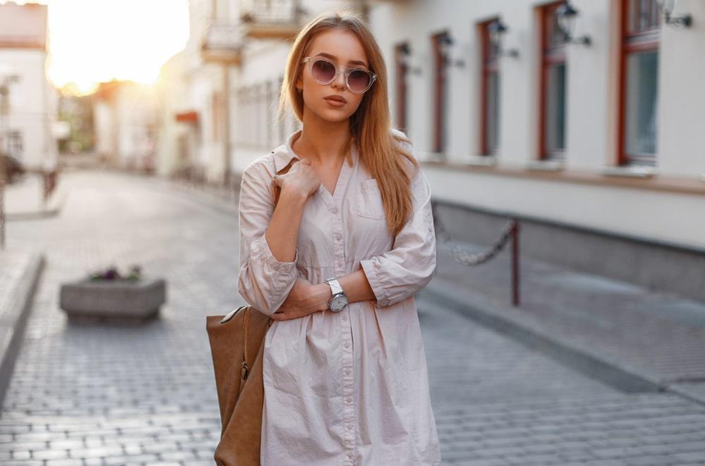 comment porter la robe chemise longue