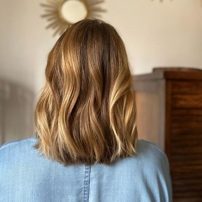 balayage miel cheveux chatains